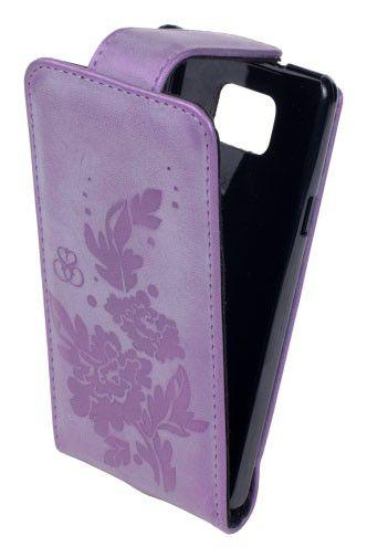 Чехол (флип-кейс) INTERSTEP LOCK Пион, для Samsung Galaxy S II, фиолетовый [hlc-sagals2k-nh2407s-k100]
