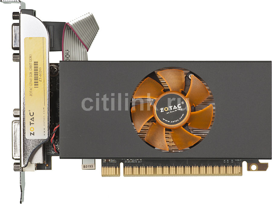 Видеокарта ZOTAC GeForce GT 640, ZT-60203-10L,  2Гб, DDR3, Low Profile,  Ret