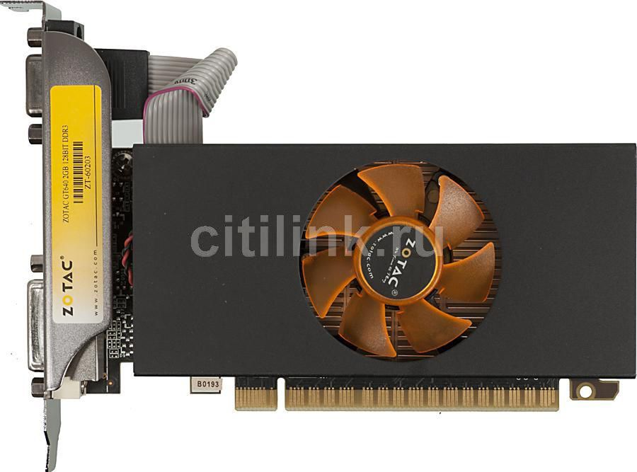 Видеокарта ZOTAC GeForce GT 640, ZT-60203-10B,  2Гб, DDR3, Low Profile,  oem