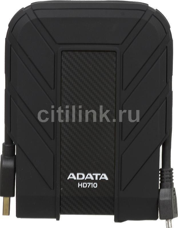 Внешний жесткий диск A-DATA DashDrive Durable HD710, 640Гб, черный [ahd710-640gu3-cbk]