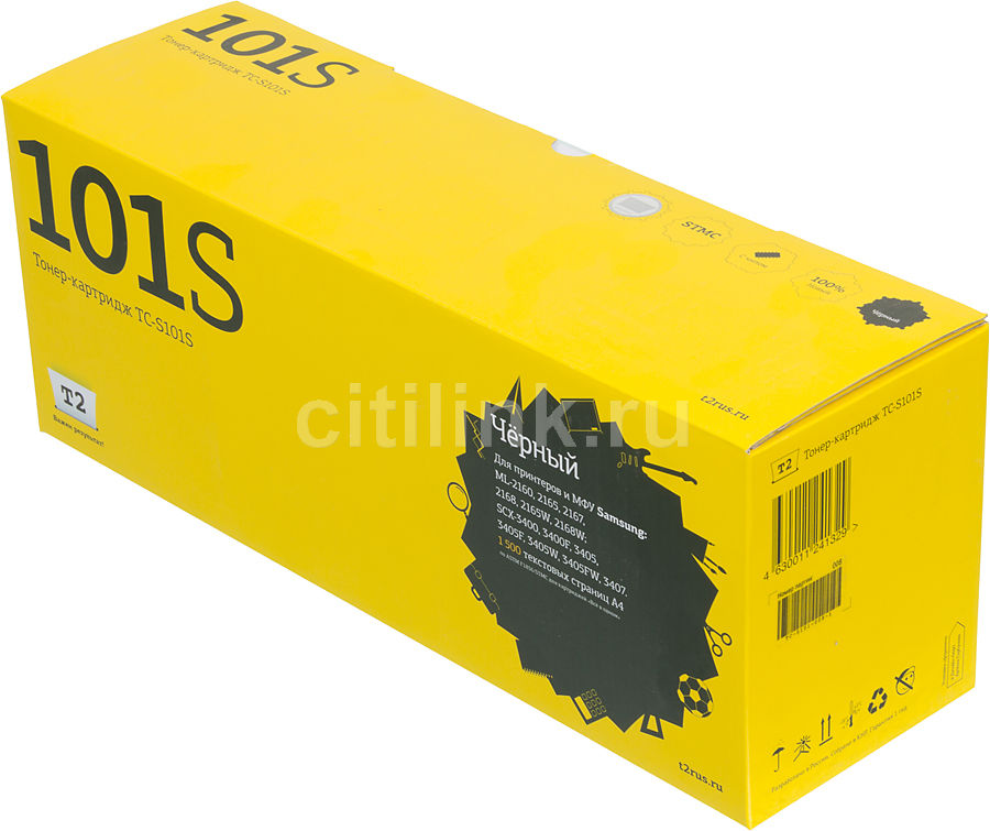 Картридж T2 MLT-D101S черный [tc-s101s] for samsung mlt d101 chip 101 laser printer ml 2160 2165 2168 scx 3400 3405 3402 cartridge resetter toner chips
