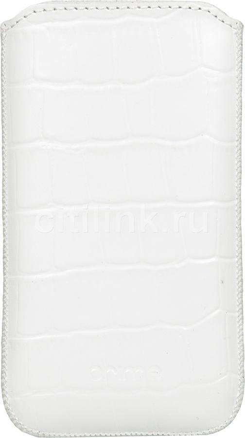 Чехол (футляр) DEPPA Prime Classic, для Apple iPhone 4, белый [001]