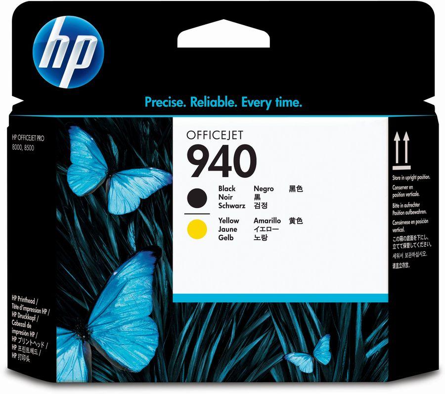 Печатающая головка HP 940 черный / желтый [c4900a]