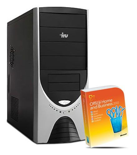 Компьютер  IRU Corp 310 (+ MS Office 2010),  Intel  Core i3  2100,  DDR3 2Гб, 320Гб,  Intel HD Graphics,  DVD-RW,  Windows 7 Professional,  черный и серебристый