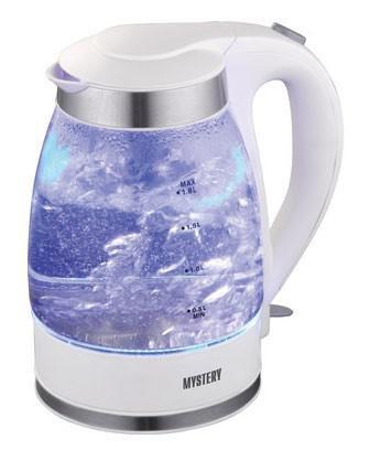 Чайник электрический MYSTERY MEK-1627, 2000Вт, белый