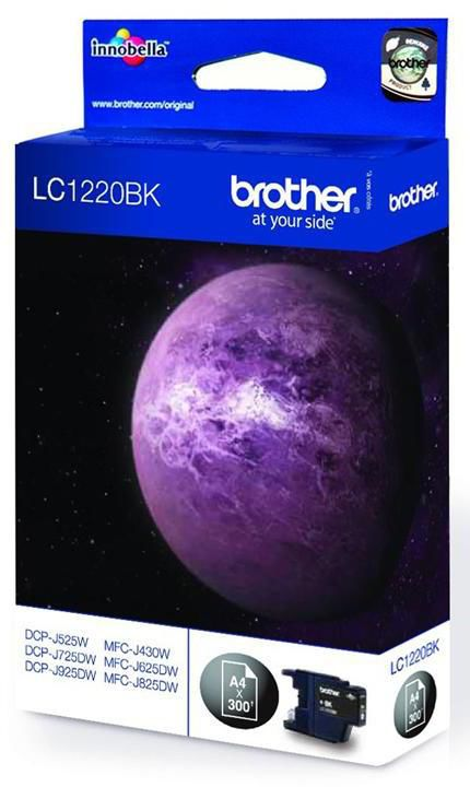 Картридж BROTHER LC1220BK черный картридж brother lc 1240bk black для mfc j6510 6910dw j430w j825dw dcp j525w 600стр