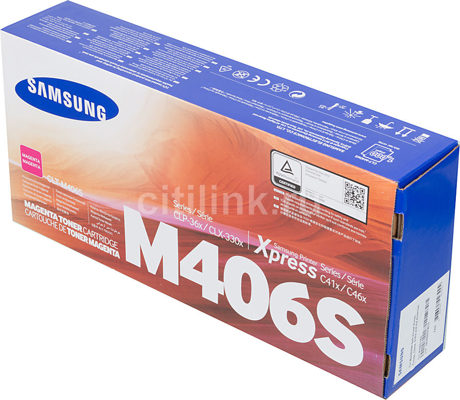 Картридж SAMSUNG CLT-M406S/SEE пурпурный