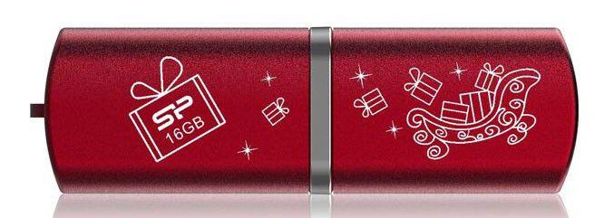 Флешка USB SILICON POWER LuxMini 720 16Гб, USB2.0, красный [sp016gbuf2720v1r-le]