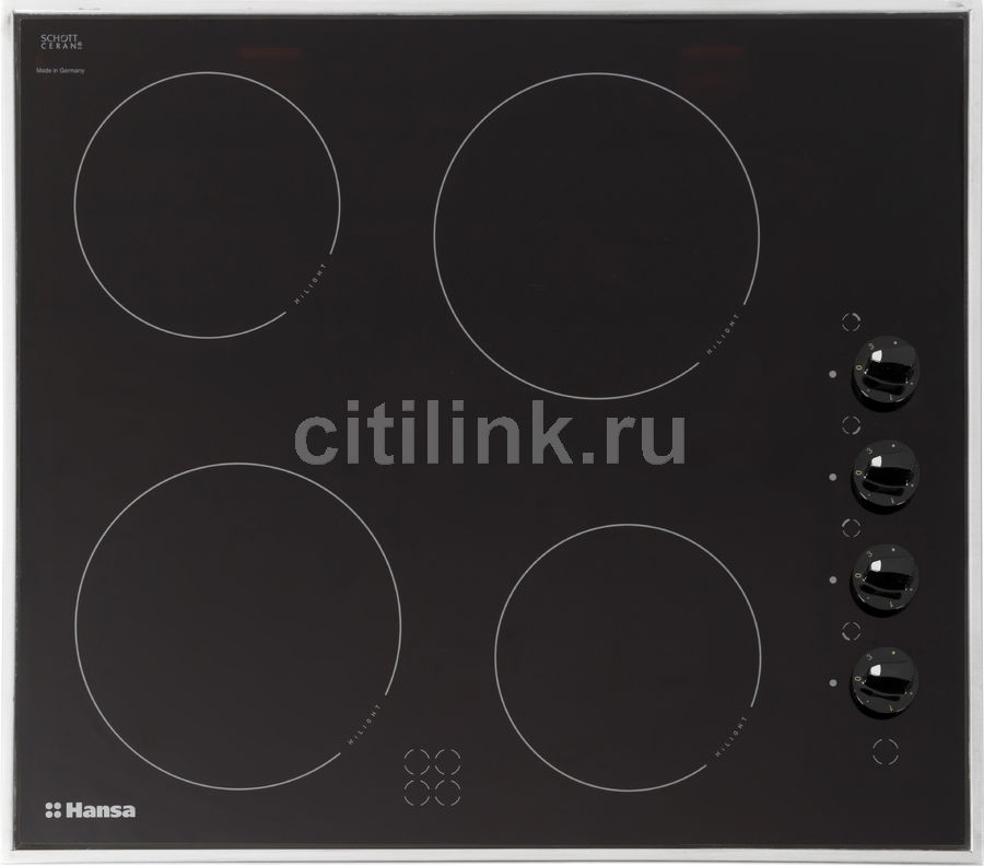 Варочная панель HANSA BHCI65123030,  Hi-Light,  независимая,  черный