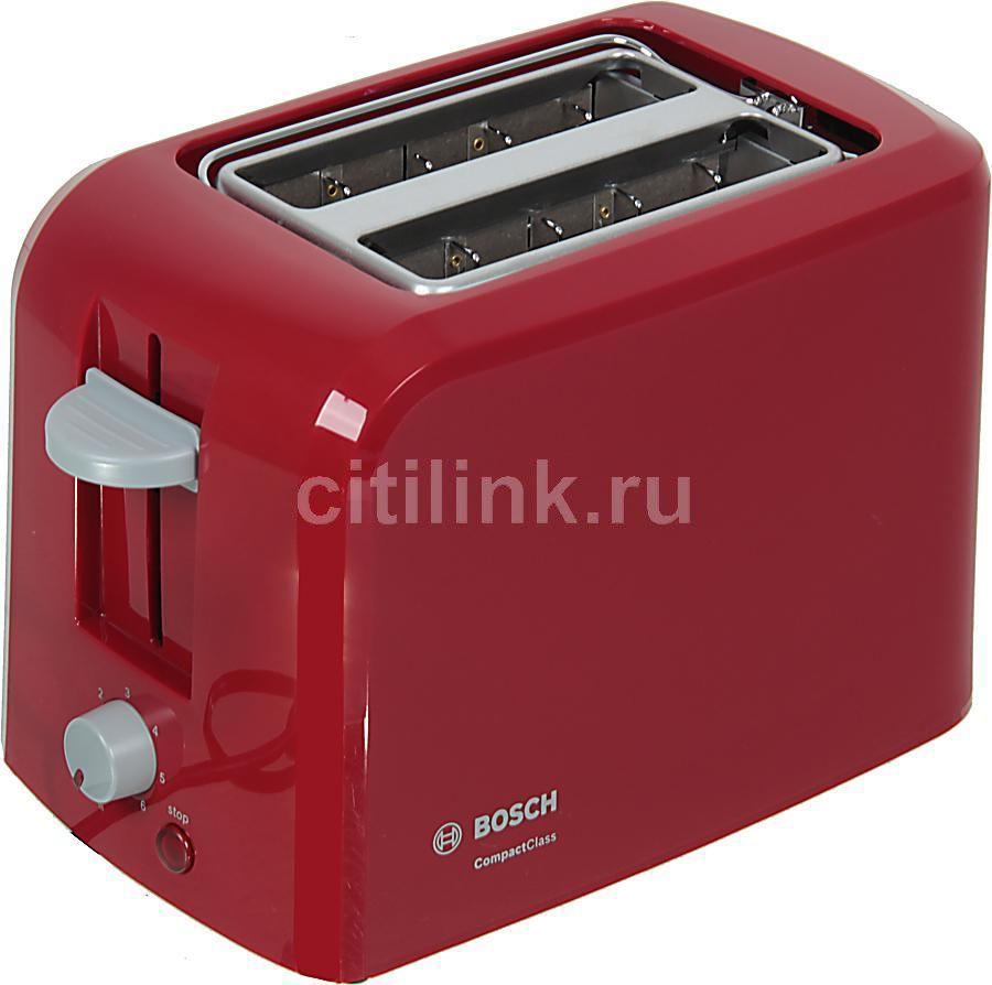 Тостер BOSCH TAT3A014,  красный