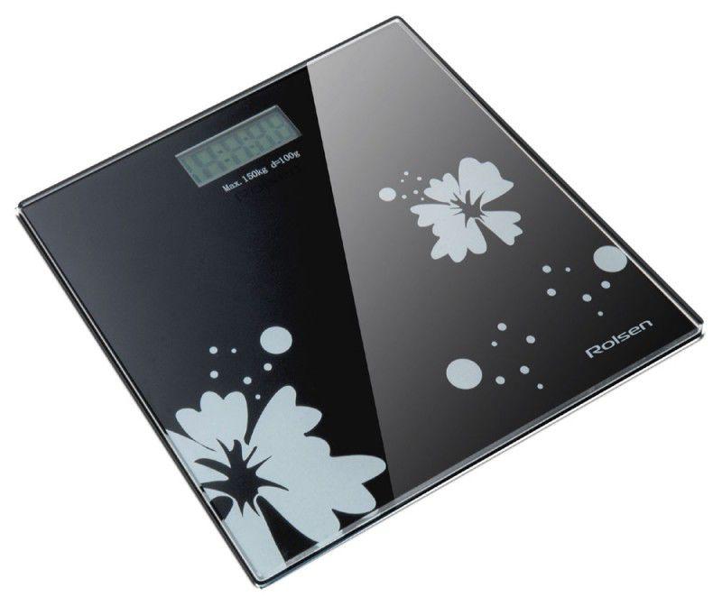 Весы ROLSEN RSL1508 glamour, до 150кг, цвет: черный