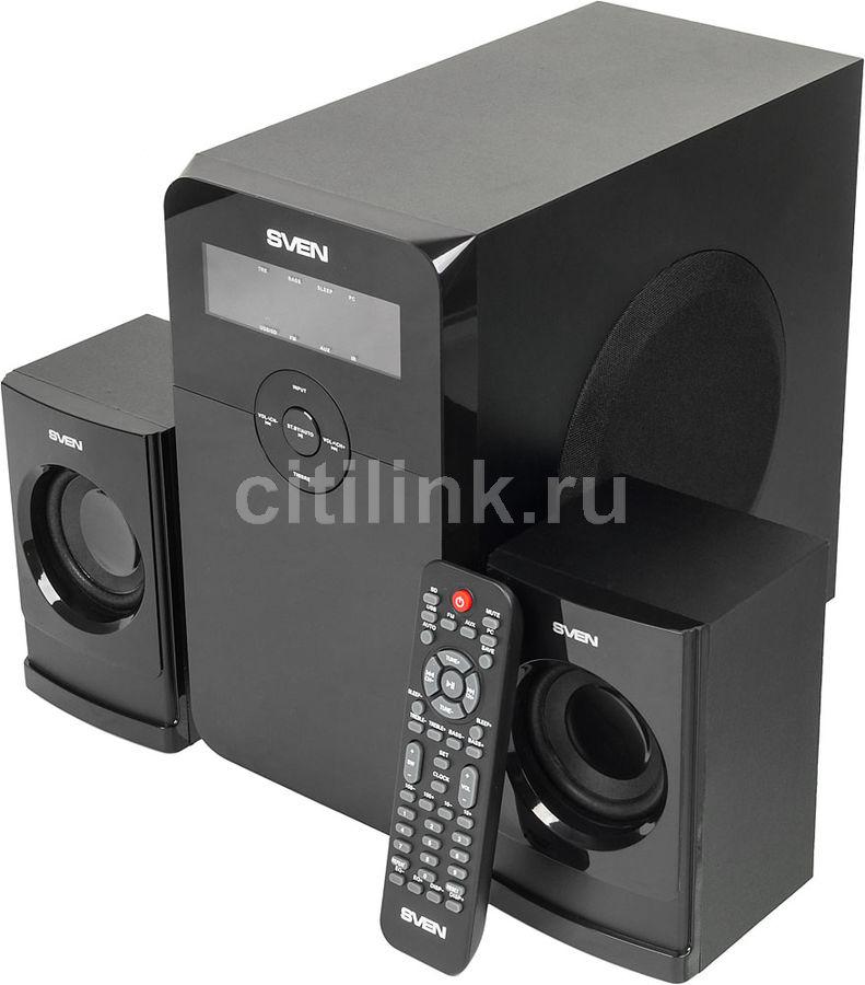 Колонки SVEN MS-2000,  2.1,  черный [sv-01302000bk]