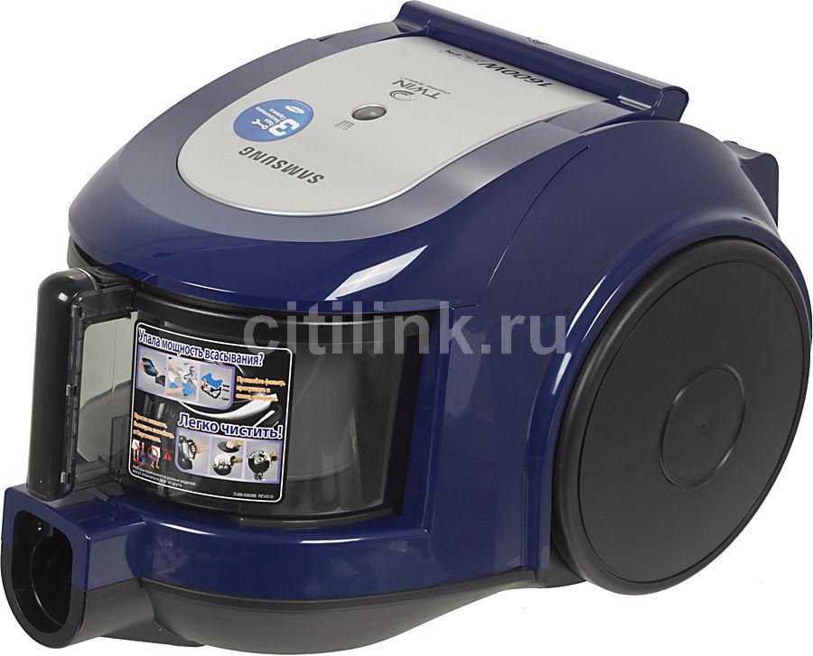 Пылесос SAMSUNG SC6542, 1600Вт, синий