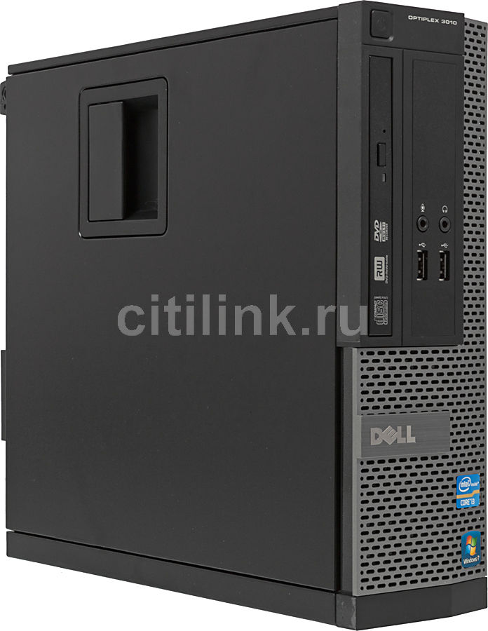 Компьютер  DELL Optiplex 3010 SFF,  Intel  Core i3  3220,  DDR3 4Гб, 500Гб,  Intel HD Graphics 2500,  DVD-RW,  Windows 7 Professional,  черный и серебристый [3010-6859]