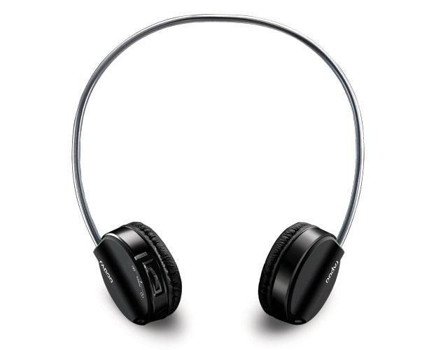 Наушники с микрофоном RAPOO H3050,  накладные, радио,  черный  [10709]