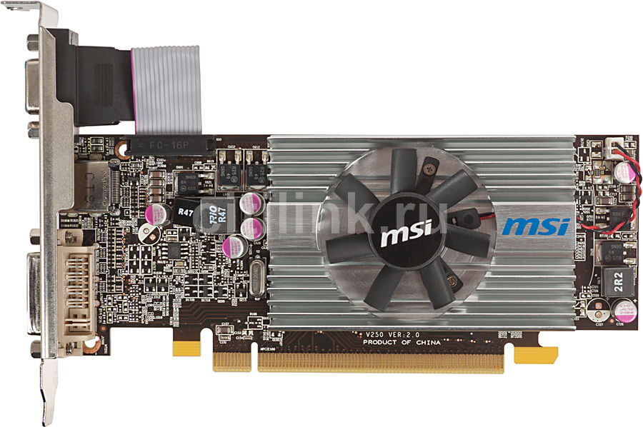 Видеокарта MSI Radeon HD 6570,  1Гб, DDR3, Low Profile,  Ret [r6570-md1gd3/lp v2]