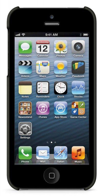 Чехол (клип-кейс) BELKIN F8W127vfC00, для Apple iPhone 5, черный