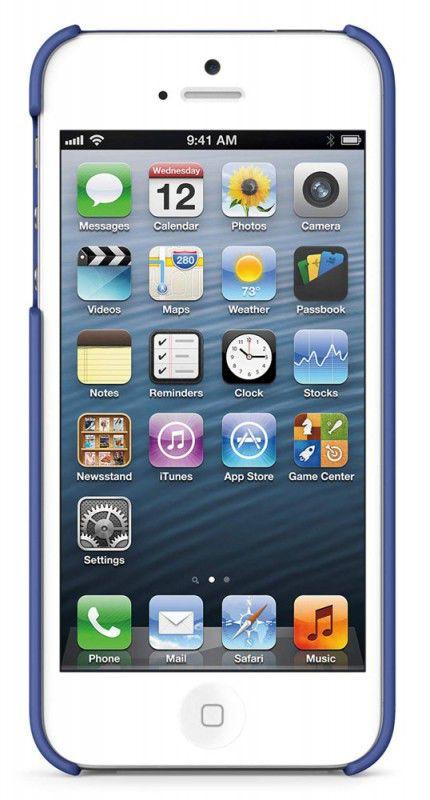 Чехол (клип-кейс) BELKIN F8W127vfC06, для Apple iPhone 5, синий