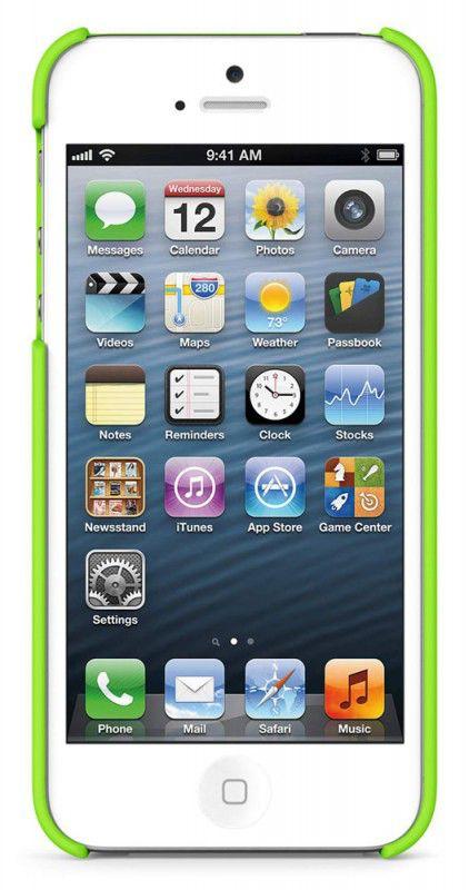 Чехол (клип-кейс) BELKIN F8W127vfC07, для Apple iPhone 5, зеленый