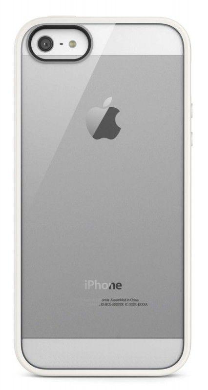 Чехол (клип-кейс) BELKIN F8W153vfC07, для Apple iPhone 5, белый