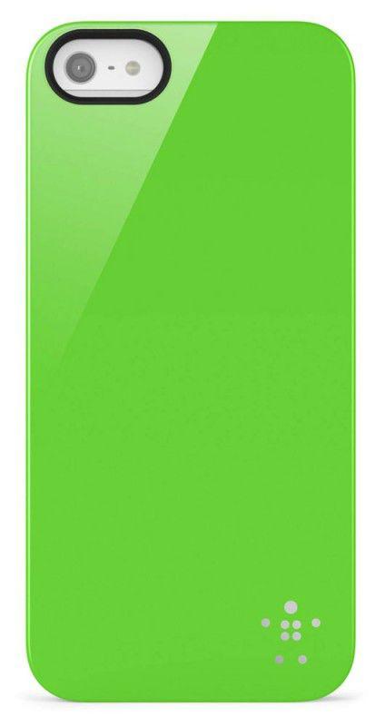Чехол (клип-кейс) BELKIN F8W159vfC02, для Apple iPhone 5, зеленый