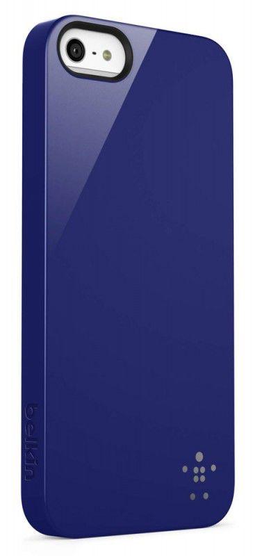 Чехол (клип-кейс) BELKIN F8W159vfC03, для Apple iPhone 5, синий