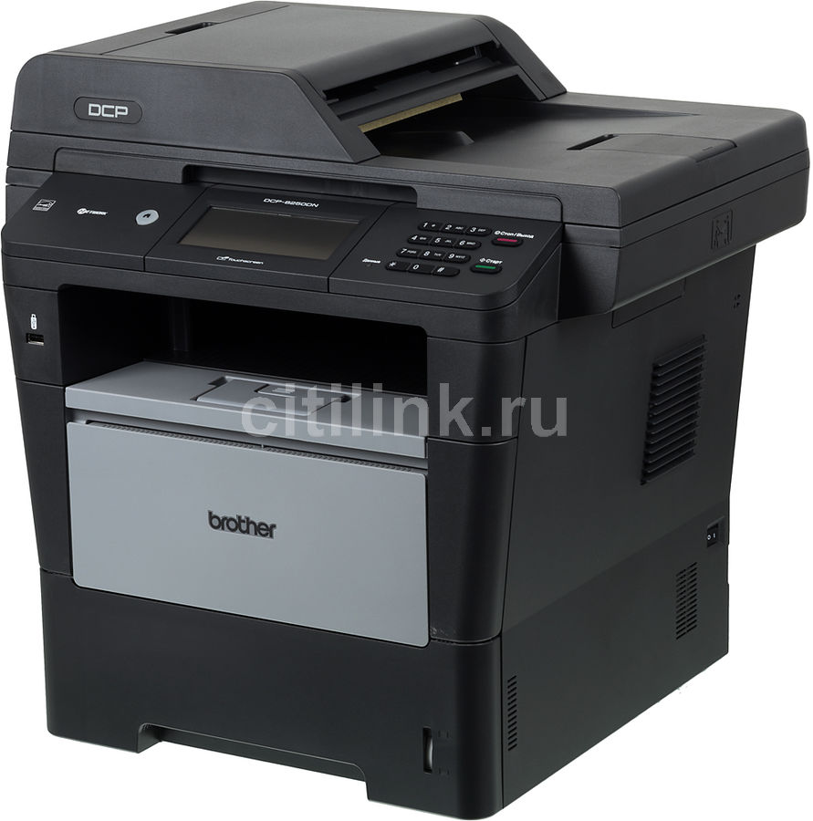 МФУ BROTHER DCP-8250DN,  A4,  лазерный,  черный [dcp8250dnr1]