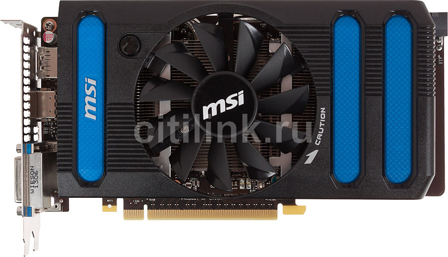Видеокарта MSI GeForce GTX 660,  N660-2GD5/OC,  2Гб, GDDR5, OC,  Ret