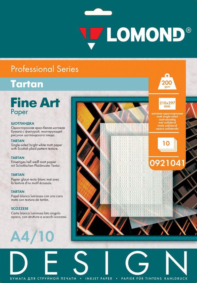 Бумага Lomond 0921041 A4/200г/м2/10л./белый матовое шотландка для струйной печати