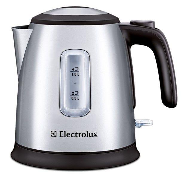 Чайник электрический ELECTROLUX EEWA5200, 2400Вт, серебристый и черный