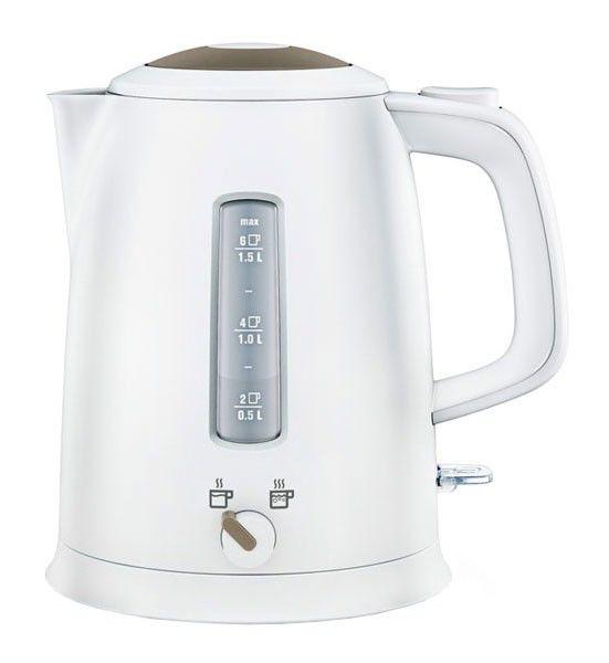 Чайник электрический ELECTROLUX EEWA5120, 2400Вт, белый и серый