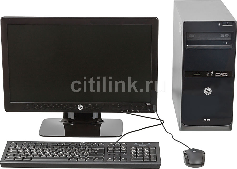 Компьютер  HP Pro 3500 MT + монитор 2011x (комплект),  Intel  Celeron  G550,  DDR3 4Гб, 500Гб,  Intel HD Graphics,  DVD-RW,  CR,  Free DOS,  черный [b5j46ea]