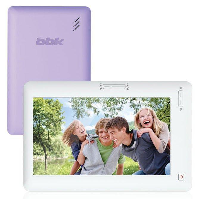 MP3 плеер BBK LV772 flash 8Гб белый/фиолетовый