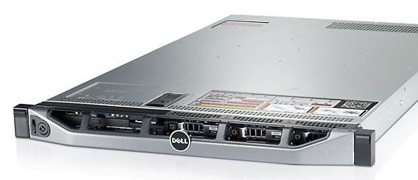 Сервер Dell PE R620 E5-2620 2.0/4GB 2RLVRDIM 1.3/x8SAS 2x146Gb 15K2.5
