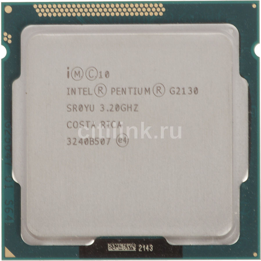 Процессор INTEL Pentium Dual-Core G2130, LGA 1155 OEM [cm8063701391200sr0yu]