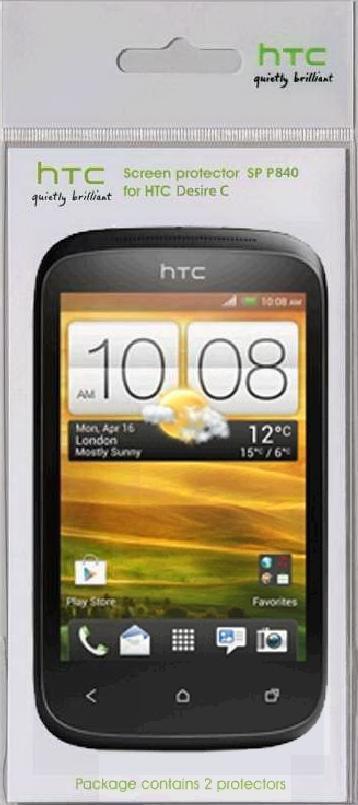 Защитная пленка для экрана HTC SP P840  для HTC Desire C,  2 шт