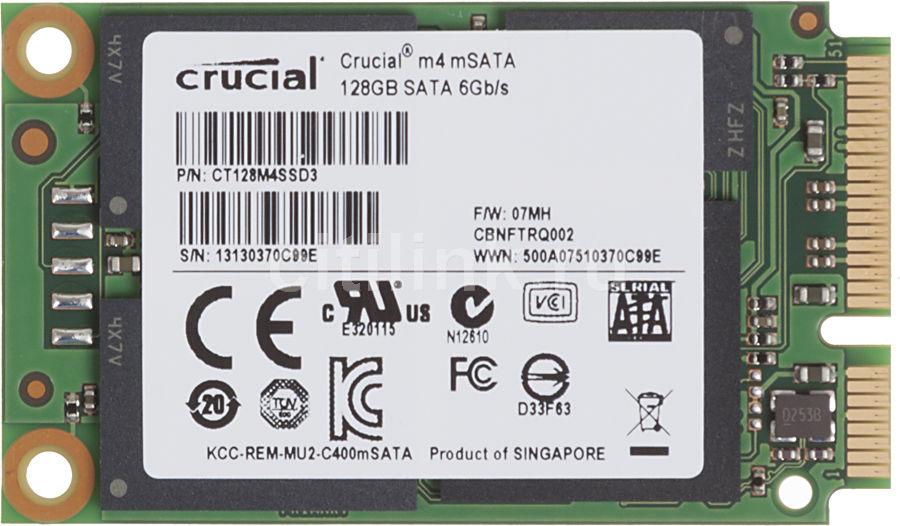 SSD накопитель CRUCIAL M4 CT128M4SSD3 128Гб, mSATA, SATA III