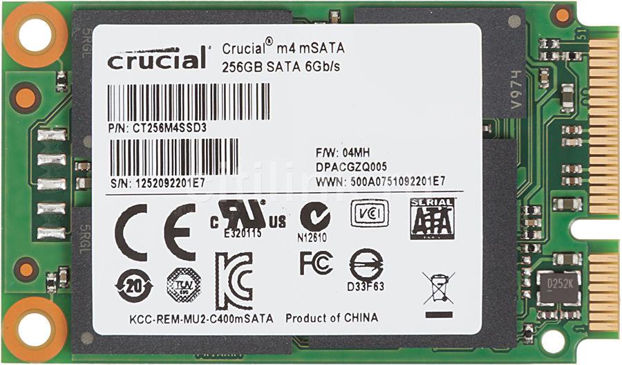Накопитель SSD CRUCIAL M4 CT256M4SSD3 256Гб, mSATA, SATA III