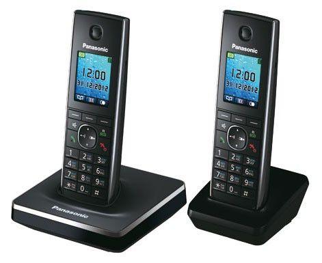 Радиотелефон PANASONIC KX-TG8552RUB,  черный