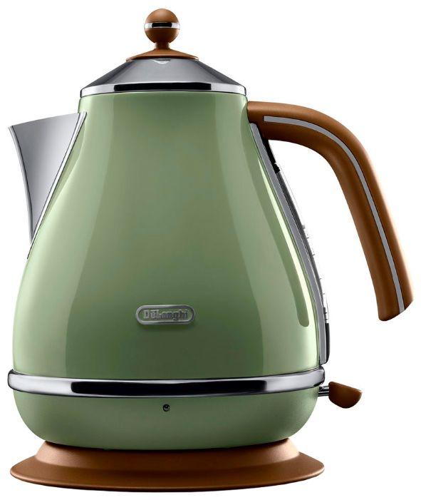 Чайник электрический DELONGHI KBOV2001.GR, 2000Вт, зеленый