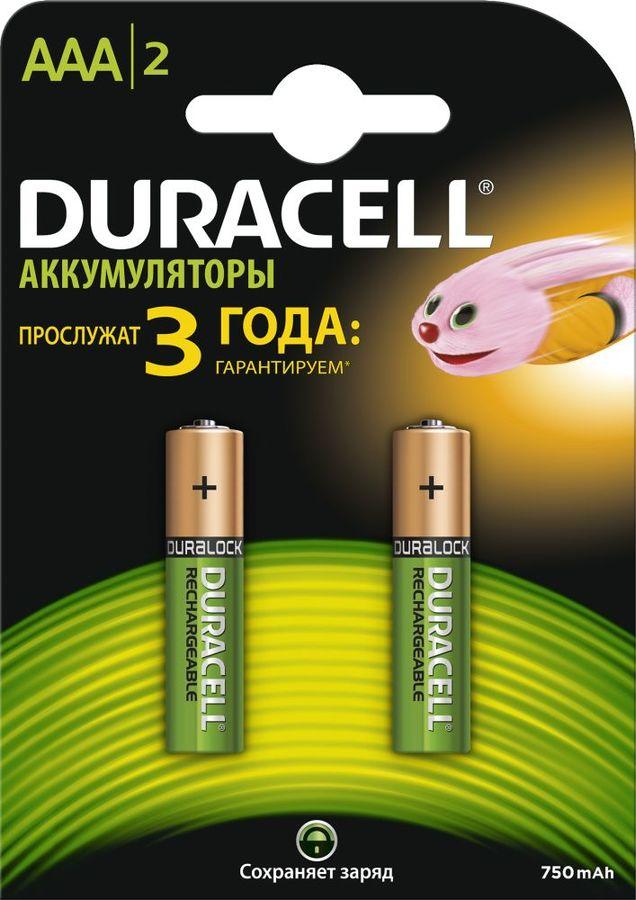 Аккумулятор DURACELL HR03-2BL,  2 шт. AAA,  750мAч