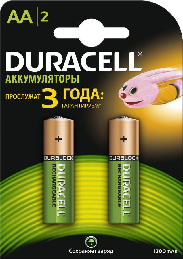 Аккумулятор DURACELL HR6-2BL,  2 шт. AA,  1300мAч