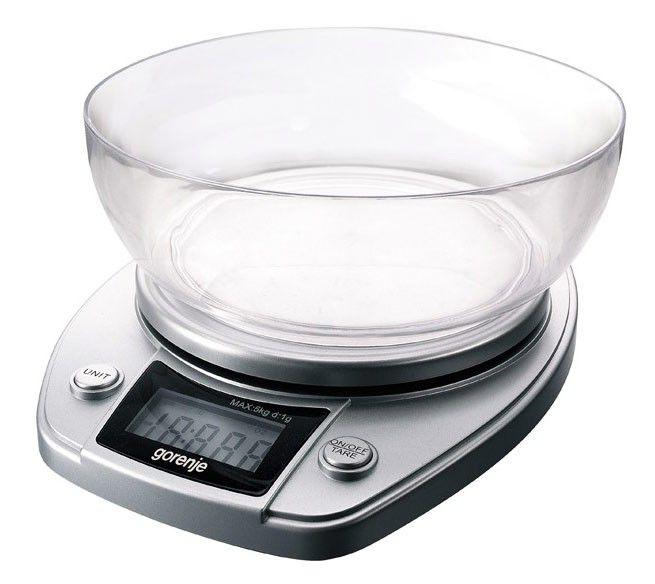 Весы кухонные GORENJE KT05NS,  серебристый