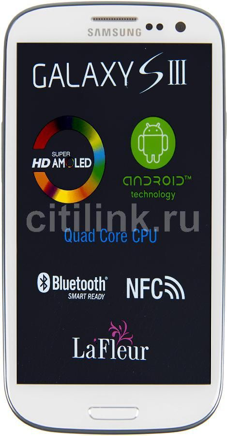 Смартфон SAMSUNG Galaxy S III La Fleur GT-I9300  16Gb, белый