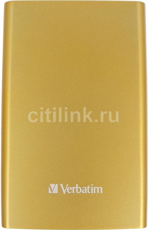 Внешний жесткий диск VERBATIM Store n Go 1Тб, желтый [53075]