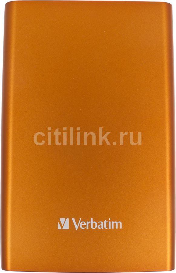 Внешний жесткий диск VERBATIM Store n Go 1Тб, оранжевый [53076]