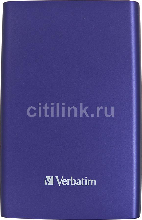 Внешний жесткий диск VERBATIM Store n Go 1Тб, фиолетовый [53077]