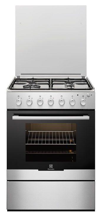 Газовая плита ELECTROLUX EKG61100OX,  газовая духовка,  серебристый