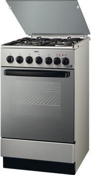 Газовая плита ZANUSSI ZCG562MX,  электрическая духовка,  серебристый