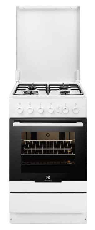 Газовая плита ELECTROLUX EKG51100OW,  газовая духовка,  белый